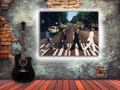 The Beatles cruzando la calle